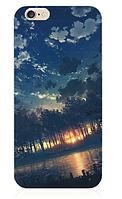 """Силиконовый чехол """"Закат"""" для Iphone 6 Plus (рисунок - печать)"""
