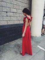 """Платье красное с открытой спиной """"Арсения"""""""