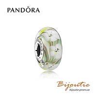 Pandora шарм  ПОЛЕВЫЕ ЦВЕТЫ №791638CZ серебро 925 Пандора оригинал