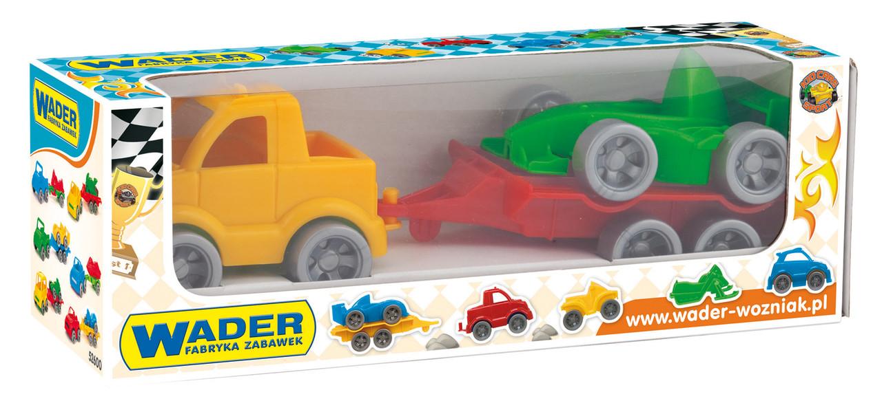 Машинка Wader Kid Cars Sport авто з причіпом