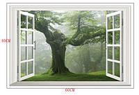 """Наклейка виниловая Пейзаж """"Зелёный лес 3D декор"""
