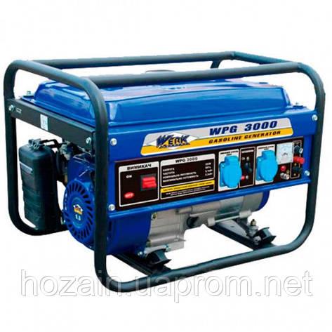 Бензиновый генератор WERK WPG 3000, фото 2