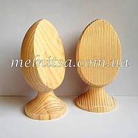 Деревянное яйцо на подставке, со срезом, 10см