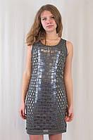 Шикарное вечернее блестящее платье, украшенное стеклярусом и камушками.