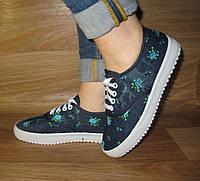 Мокасины на шнурке (текстиль), фото 1