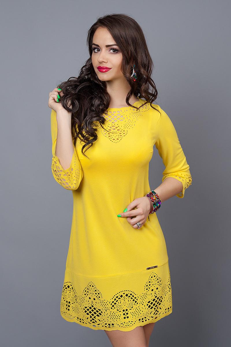 Платье женское модель №245-3, размер 44 желтое