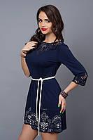 Платье женское модель №245-5, размер 44,46.50 темно-синее