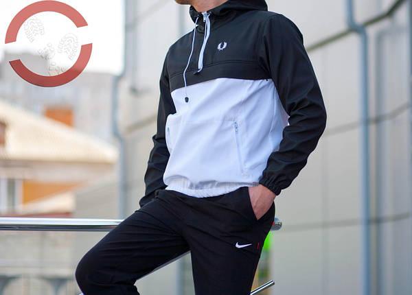 Анорак, черно белый, штормовка, спортивный, фото 2