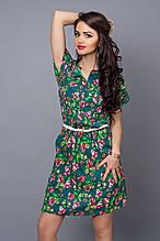 Платье мод 475-5,размер  50-52 морская волна