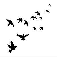 Наклейка виниловая Птицы 3D декор
