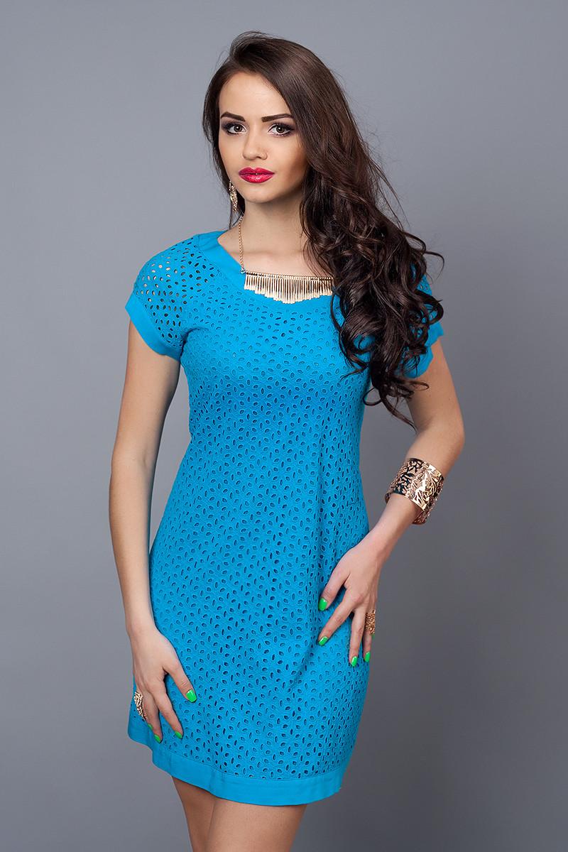 Платье  мод 477-6 размер 44-46 сине-голубое