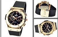Наручные часы HUBLOT BLACK gold 5975, часы наручные Хаблот, женские наручные часы, мужские часы, фото 1