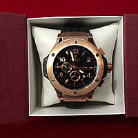 Мужские наручные часы Hublot Big Bang Gold Black механика с автоподзаводом качество 5980, часы, мужские