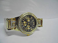 Часы наручные женские Gues(золото-черные),часы наручные Гуес, женские наручные часы, мужские часы, фото 1
