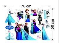 Наклейка виниловая Холодное сердце (Frozen) 3D декор