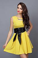 Платье  мод 385-2 размер 46,48 желтое