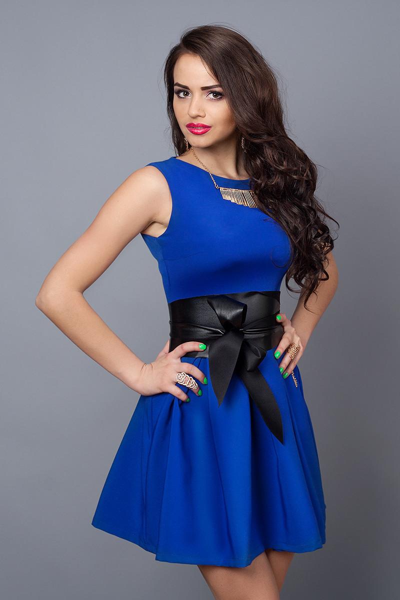 Платье  мод 385-4 размер 42 электрик