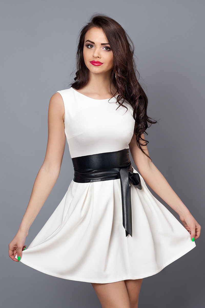 Сукня мод 385-7 розмір 48 біле