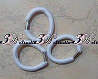 Резинка для волос белая жгут диаметр 0,8 см