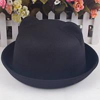 Шляпа котелок с ушками