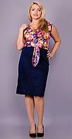 Анхель. Женское легкое платье больших размеров. Цветок. Gloria Romana, 50