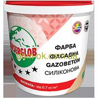 Ансерглоб Структурная краска силиконовая Gazobeton * Ведро 14 кг.