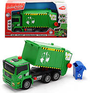 Детский автомобиль Dickie Toys Мусоровоз с воздушной помпой и контейнером (3805000)
