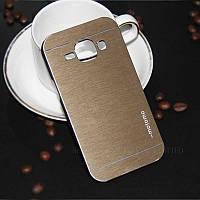 Чехол Motomo Aluminum Samsung J100h Galaxy J1 золотой