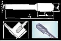 Проминструмент Борфреза сфероцил С 8х25х10х100 d ВК8 подовжена Борфрезы твердосплавные подовжена