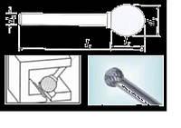Проминструмент D 16x14,4x10x80 ВК8 Борфреза сферические