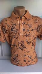 Мужская футболка-поло ETTE новинка этого сезона c вышивкой на груди код 8039