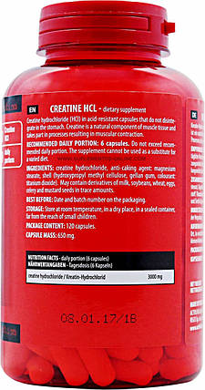 Activlab Creatine HCL 120 caps, фото 2
