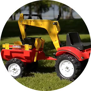 Трактор педальный с двумя ковшами красный Falk 2051CN, фото 2