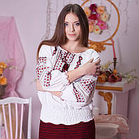 Вишиванка 3/4 рукав (ручна вишивка, домотканна тканина), фото 1