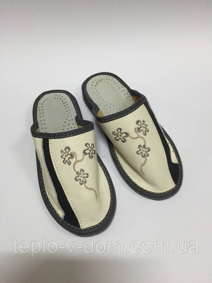 Домашние кожаные тапочки женские (10шт)