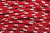 Шнур 10мм (100м) красный+белый