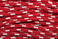 Шнур 10мм (100м) красный+белый, фото 1