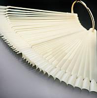 Типсы веер на кольце 50 шт ( белые)
