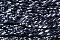 Шнур плоский 7мм (100м) т.синий+белый , фото 1