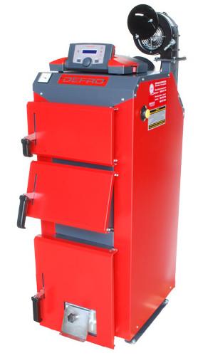 Универсальный отопительный котел на твердом топливе длительного горения Defro Optima Komfort Plus 15 (Дефро)