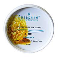 Паста для шугаринга с медом средняя 500г Янтарика