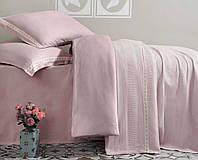 Комплект постельного белья с покрывалом (однотонный розовый), Турция (TM Aran Classy)
