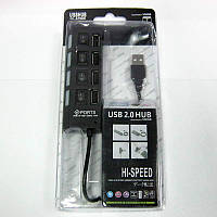 Концентратор USB2.0  AT-com TD010  4port+USB to PS/2 port
