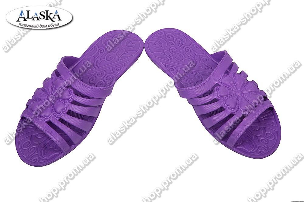 Женские шлепанцы фиолетовые (Код: Флора)