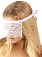 Ажурная маска для глаз, для первой брачной ночи, эротических игр. Ажурная белая маска оптом и в розницу.