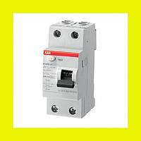 Устройства защитного отключения (УЗО) FH202 AC-25/0,03  ABB 25А 30мА 2-полюсные (1+N)
