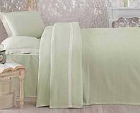 Комплект постельного белья с покрывалом (однотонный оливковый), Турция (TM Aran Classy)