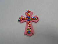 Пасхальный крестик розовый