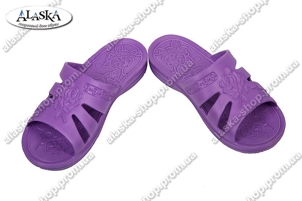 Женские шлепки фиолетовые (Код: Роза)