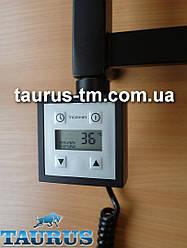 Чорний TERMA KTX3 BLACK квадратний електротена: LCD екран + регулятор 30-60С + таймер 24 год Потужність: 120-1000W
